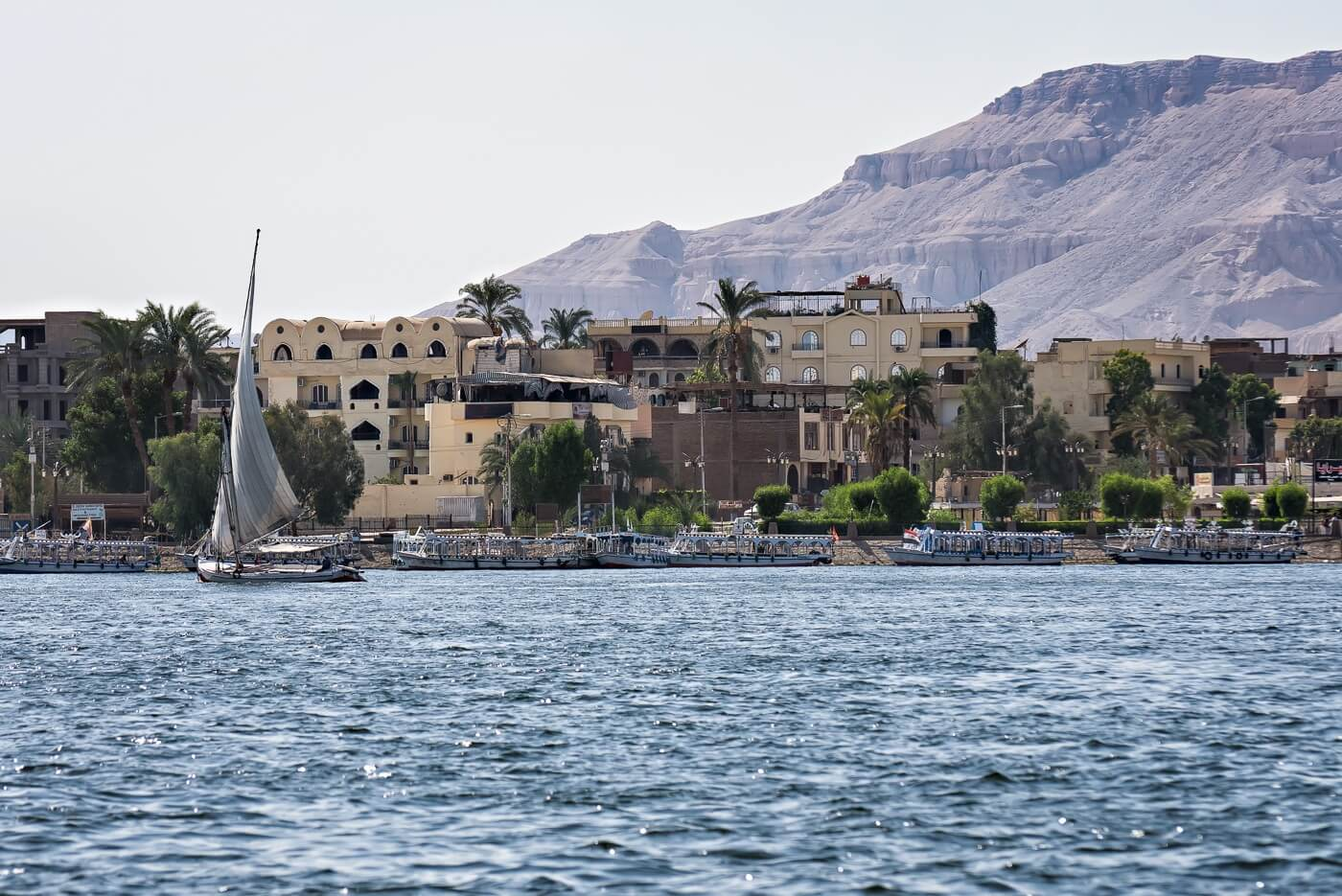 Boats on the river Nile, Luxor, Egypt - Photo by Zed Sindelar of CuriousZed Photography