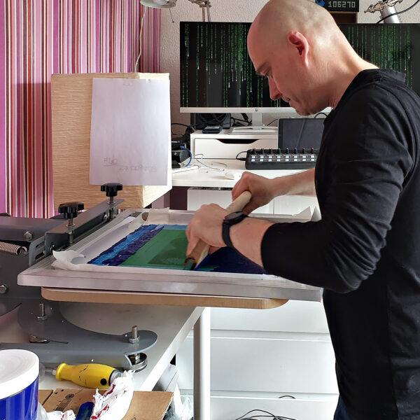 Screen Printing Process - CuriousZed- Zdenek Sindelar